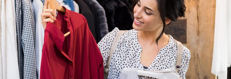 vente de vêtements de seconde main