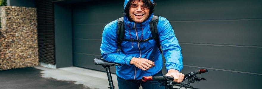 Veste vélo imperméable